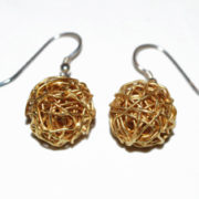 fine wraparound ball drop earrings gold plated silver