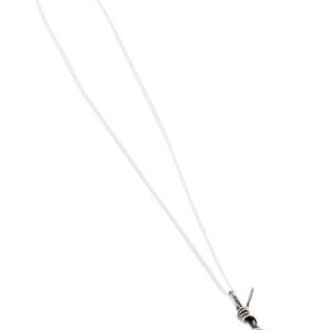 silver barb wire pendant