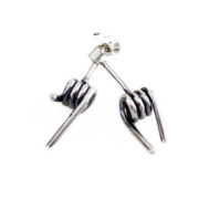 silver barb wire studs