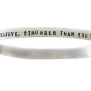 Flat matt message bangle