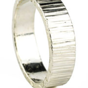 4mm bark hammered polish ring