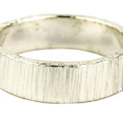 5mm bark hammered polished ring
