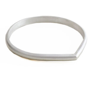 heavy teardrop bangle