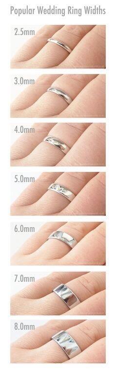 Colette Hazelwood jewellery ring widths