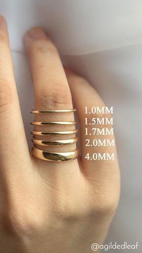 Colette Hazelwood Jewellery ring width guide