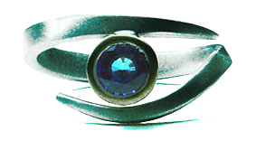 Colette Hazelwood Contemporary Jewellery. Sapphire Eye Ring