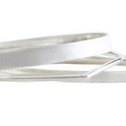 triple teardrop silver bangles