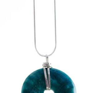 turquiose donut necklace