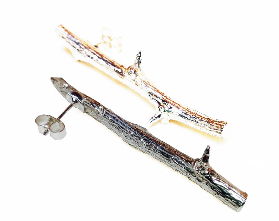 Colette Hazelwood Contemporary Jewellery twig earrings