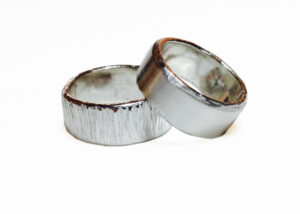 Silver Ashes Rings  by Colette Hazelwood Contemporary Jewellery.