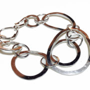 silver organic links bracelet
