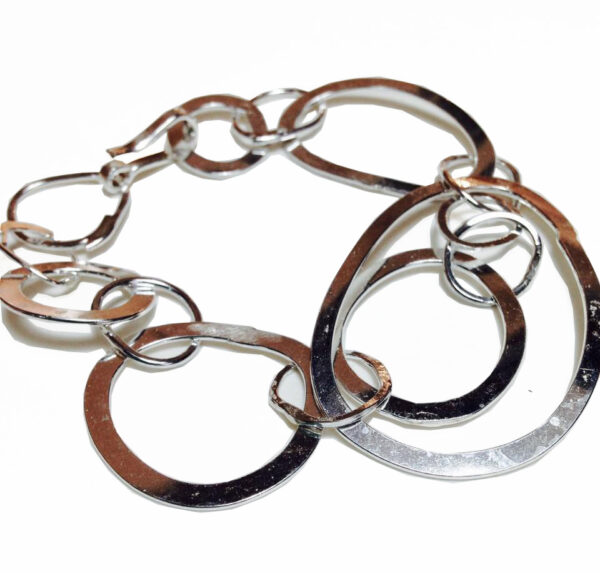 Colette Hazelwood Contemporary Jewellery silver organic links bracelet