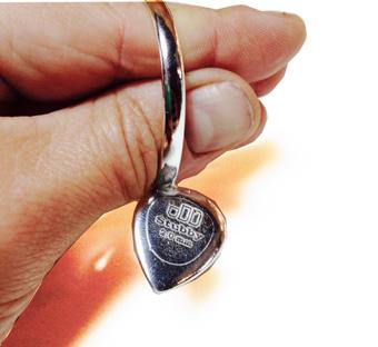 Colette Hazelwood - Silver Guitar Pick Bangle