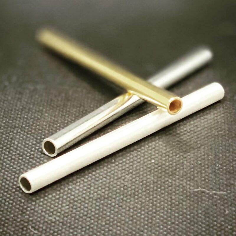 gold & silver cocaine straws