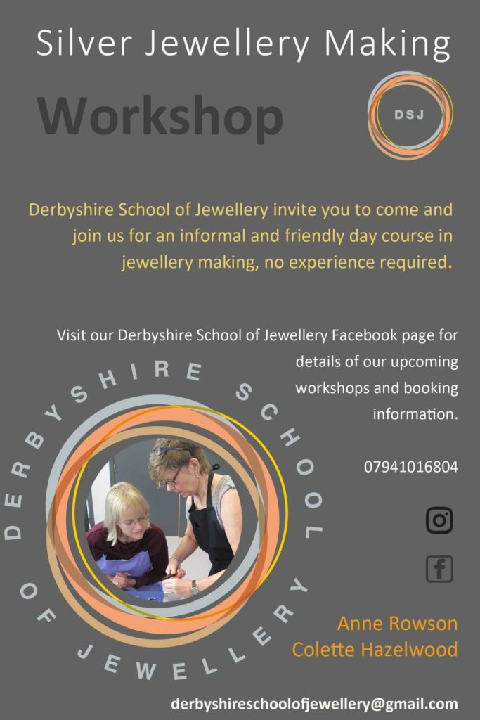 derbyshire school of jewellery workshop