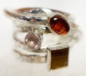 Colette Hazelwood contemprary jewellery, silver wrap ring commission