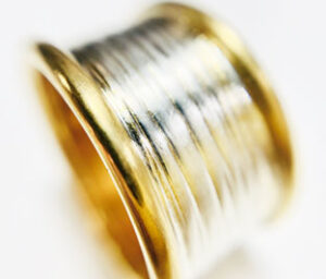 Colette Hazelwood contemporary jewellery, 14mm Gold plated silver ring