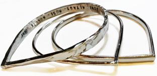 Colette Hazelwood Jewellery Triple Teardrop Personalised Bangles