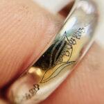 laser engraved platinum ring