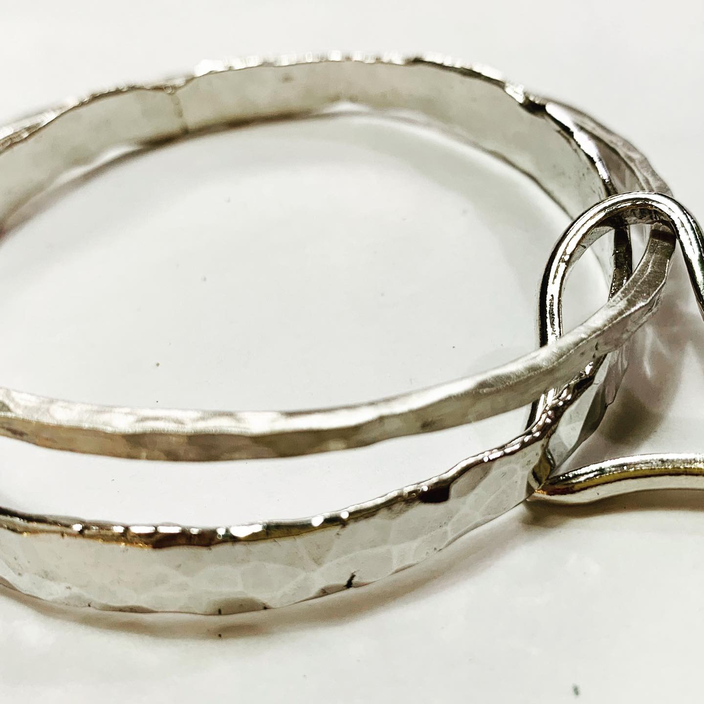Colette Hazewood Contemporary Jewellery Silver Heart bangles