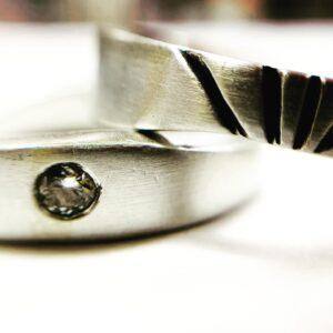 Colette Hazelwood Contemporary Jewellery. silver sunrise diamond ring