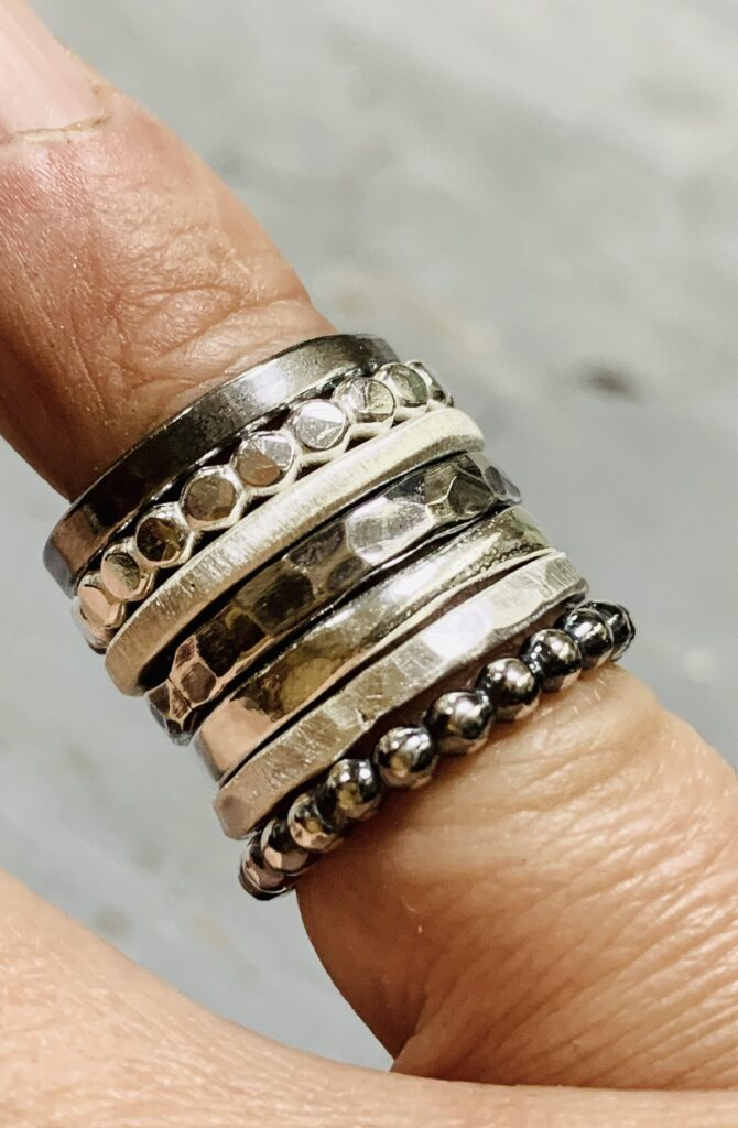 Colette Hazelwood Contemporary Jewellery 8 Silver Stacking Rings