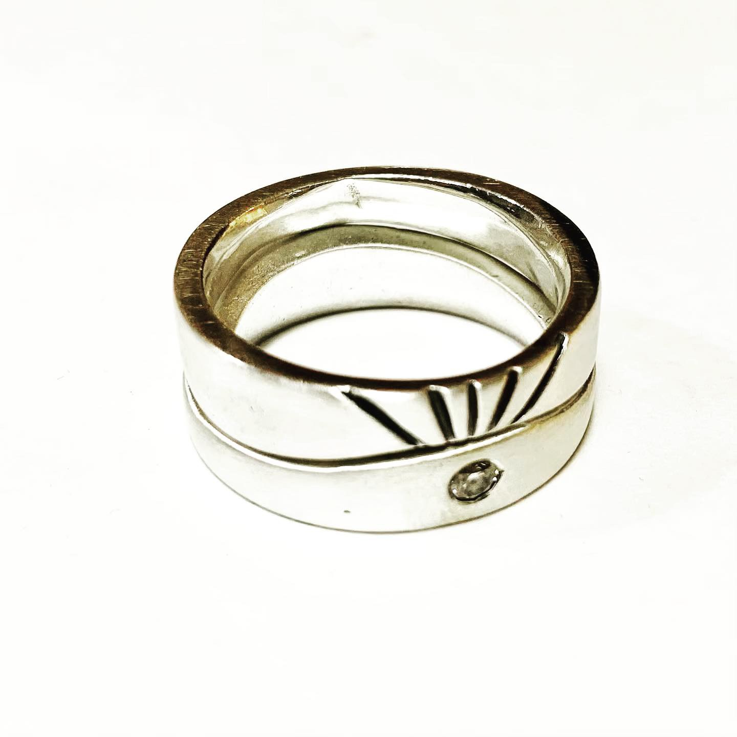 Colette Hazewood Contemporary Jewellery Silver Sunrise Rings