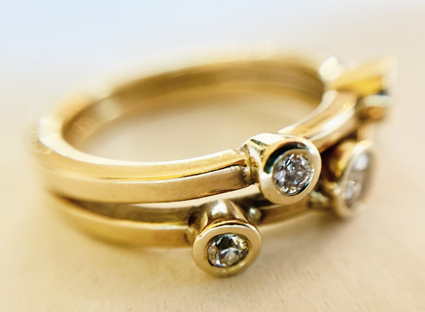 Gold and ruby  Engagement Ring Remake Colette  Hazelwood Contemprary Jewellery