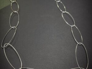 Colette Hazelwood Contemporary Jewellery navette oval links necklace