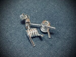 barb wire stud earrings