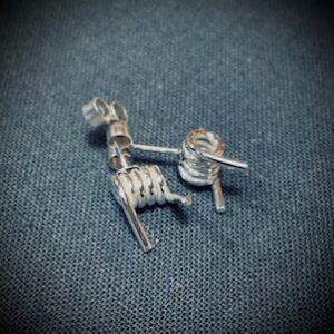 barb wire stud earrings