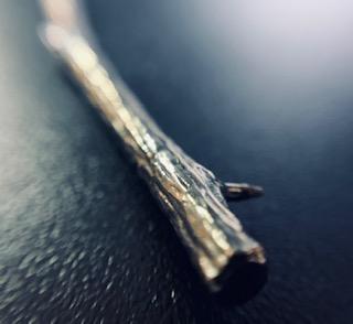 silver twig earrings