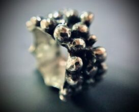 silver chunky bobble ring