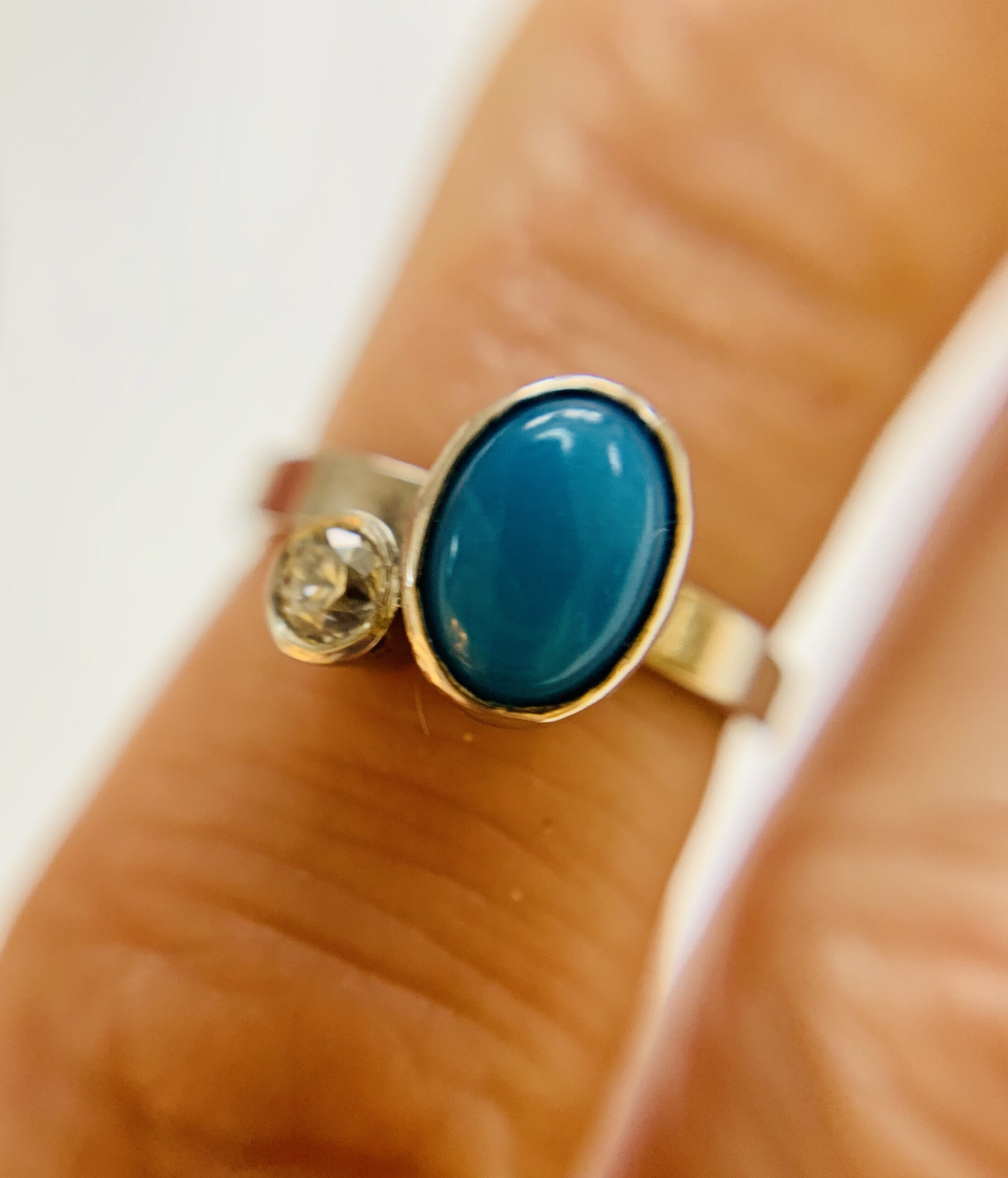 Platinum,-Diamond-&-Turquiose-Engagement Ring