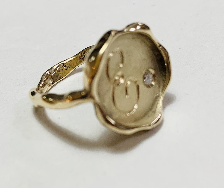 Wax Seal Ring - Gold