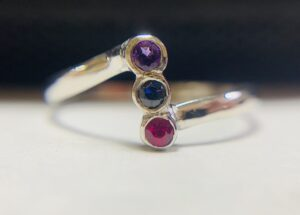 Amethyst, Sapphire and Ruby White gold ring - Colette Hazelwood