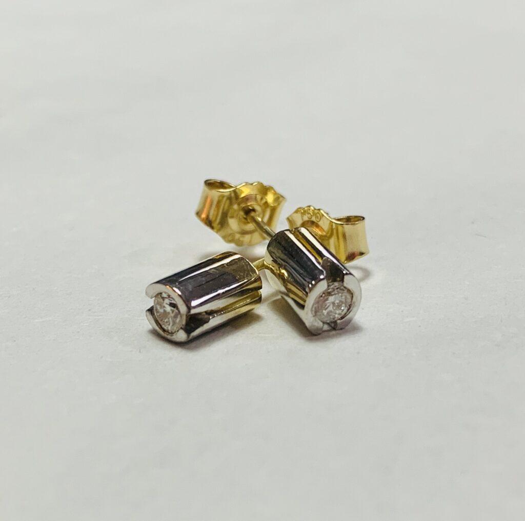 olette Hazelwood 18ct Gold & Diamond Earrings
