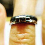 Oxididised Silver Lego Engagement Rings by Colette Hazelwood Jewellery