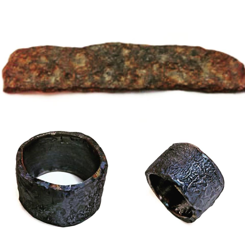 iron ring by Colette Hazelwood jewellery