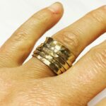 9ct yellow gold spinning ring was made from both new and recycled metal. Price guide £500. 2 of 2.