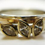 Marquise, Diamonds, white & Yellow Gold Wedding & Engagement Rings3