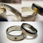 Platinum and Sapphires Wedding Rings