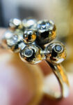 gold bobbles and diamonds ring