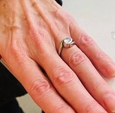 platinum lockdown proposal ring