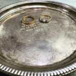 silver plate, gold and opals to be recycled
