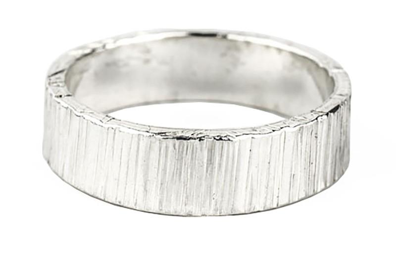 6mm bark polished ring