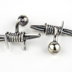 barb wire cuff links