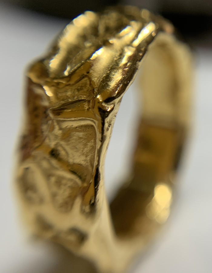 gold plated siver organic ring2