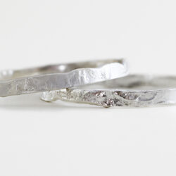 silver reticulated bangle