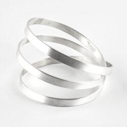 silver coil bangle